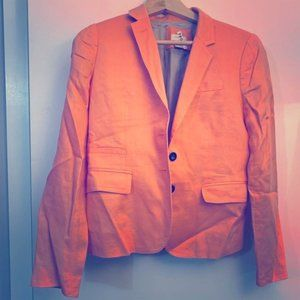 Like-New J Crew Light Tangerine Linen Blazer, Size